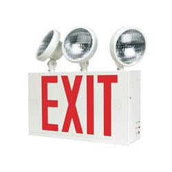 Best Lighting CNYXTE1RW3 12.7/14.3W Incandescent Exit & Emergency Combo