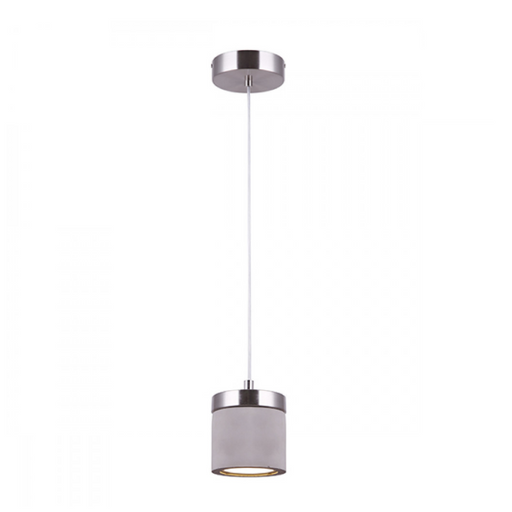 Canarm Cohen Cement & Brushed Nickel 1 Light LED Pendant LPL158A01BN5