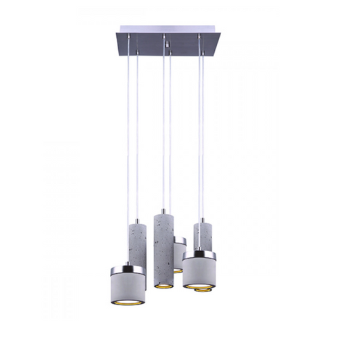 Canarm Cohen Cement & Brushed Nickel 6 Light LED Pendant LPL158A06BN