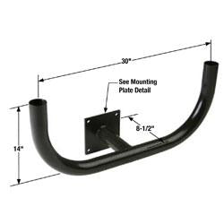 DRAB Double Right Angle Bullhorn Bracket Wall Mount 180°