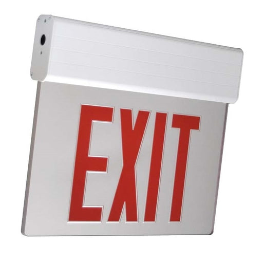 ELXTEU1RCA Edge-Lit LED Exit AC Only Single Red/Clear, 120/277V