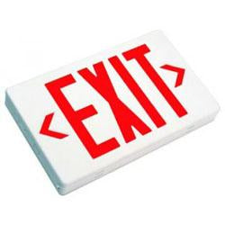 LED Exit Sign RED W/ Battery Backup