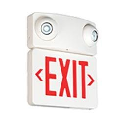 Exit Emergency Combo Thomas & Betts UQLXN500G-2MRS LED Emergency Exit Light Combo Thomas & Betts