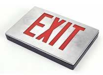 Exit Sign 6in Die Cast Aluminum Red LED Exit Sign LightStoreUSA