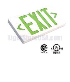 Exit Sign LED Exit Sign GREEN AC-Only LightStoreUSA