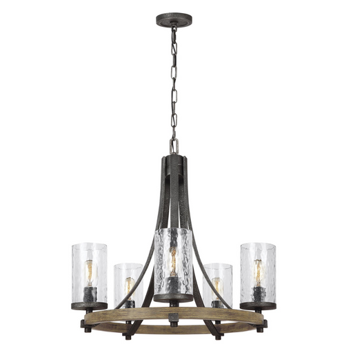 "Feiss Angelo Distressed Five Light 24"" Chandelier"