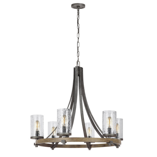 "Feiss Angelo Distressed Six Light 30"" Chandelier"