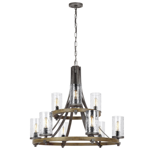 Feiss Angelo Distressed Nine Light Two-Tiered Chandelier