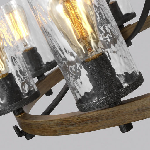 Feiss Angelo Distressed Ten Light Chandelier
