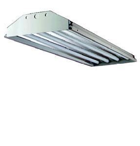 Fluorescent High Bay Howard 4 Lamp 4FT Fluorescent High Bay Fixture T8 32W MIRO HFA2 Howard Lighting