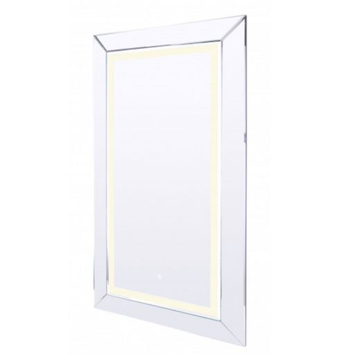 Canarm LMV01W2442D 24 X 42 Framed LED Mirror With De-Fogger and Color Temperature Select