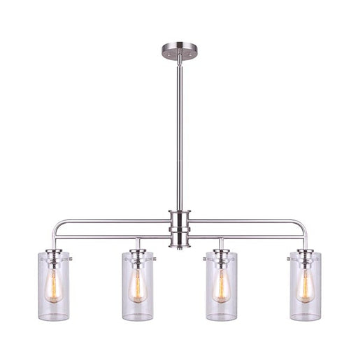 Canarm IPL679A04BN Albany Triple Island Pendant in Brushed Nickel