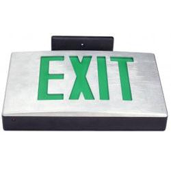 6in Die Cast Aluminum Green LED Exit Sign