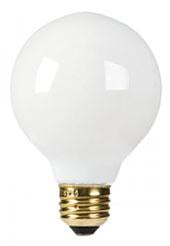 25-Watt Incandescent G25 MED White