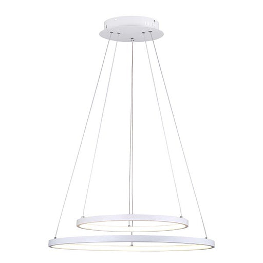 Canarm Lexie Contemporary Double LED Chandelier LCH128A24WH White