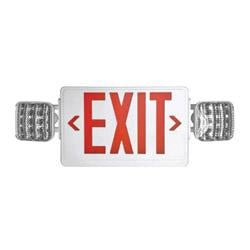 LEDCXTEU1RW LED Combo Emergency Exit White Plastic With Red Letters