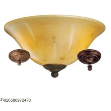 ***CLEARANCE*** Monte Carlo Ceiling Fan Light Kit MC218-L Herringbone Alabaster Glass