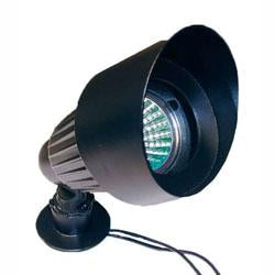 Low Voltage Hooded Spotlight with Glass Lens