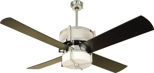 "Craftmade MO56CH4 56"" Black & Chrome Ceiling Fan Up/Downlight w/ Remote"