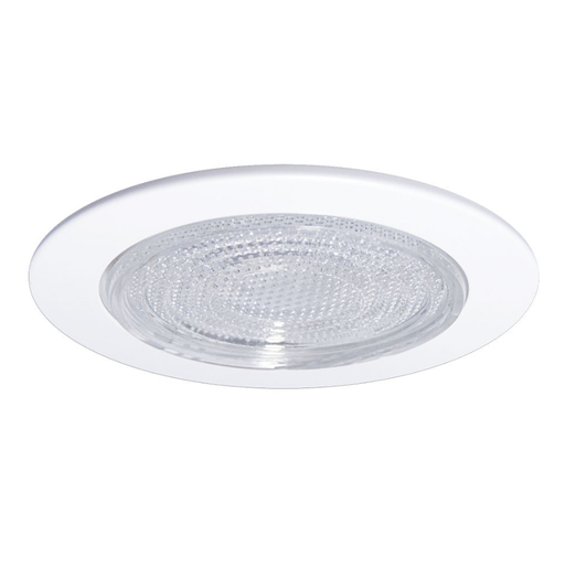 "Nora NS-23W 4"" FRESNEL Lens Shower Trim White"