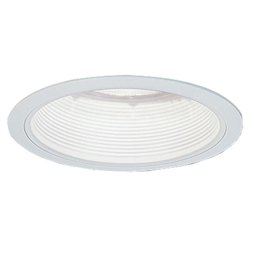 "Nora NS-40P 4"" White Phenolic Stepped Recessed Light with Plastic Ring"