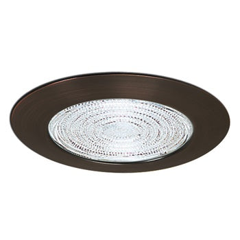 "Nora Lighting NT-23B 6"" Fresnel Shower Trim Lens with Black Metal Trim"