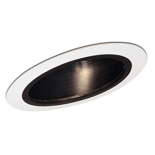 "Nora Lighting NTM-615 6"" Sloped Metal Trim With Baffle - Black or White"
