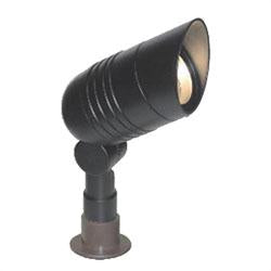1051-BK - Black Cast Aluminum Slim Hooded Bullet Landscape Light