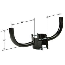 RAB14-N2 Double Right Angle Wrap Bracket for Round Poles