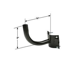 RAB14-N Single Right Angle Wrap Bracket for Round Poles