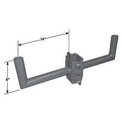 RABH14-N2 Double Right Angle Wrap Bracket for Square Poles
