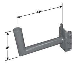 RABH14-N Single Right Angle Wrap Bracket for Square Poles