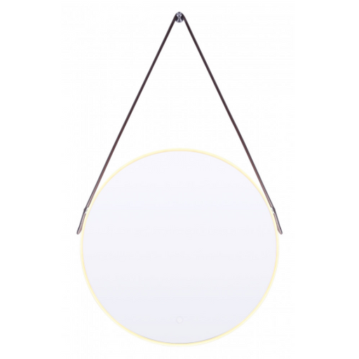 Canarm LM115Z2424DM 24 inch Round Hanging LED Mirror with Leather Strap