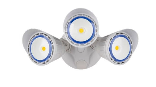Westgate SL-30W-50K-WH-D 30 Watt Dimmable 3 Head LED Security Lights WHITE