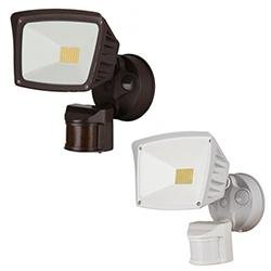 Security Flood Lights Westgate SL-28W-30K-BZ-P 28W LED Security Light with PIR Sensor 3000K Westgate