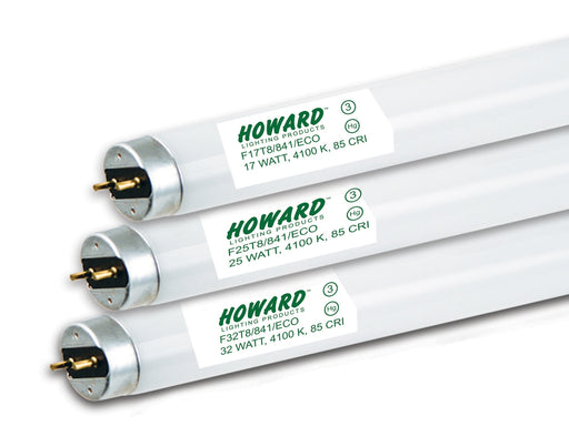 Howard Lighting F25T8/835/ECO 25W T8 Low Mercury Linear Fluorescent Tube 3500K - Case 25