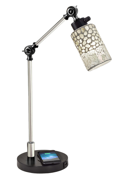 Alps Mosaic Tiffany Desk Lamp With Wireless and USB Charger