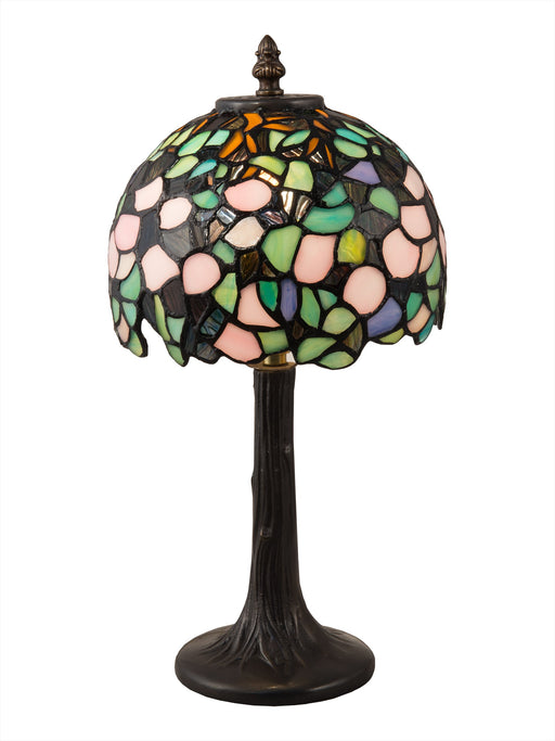 Lana Tiffany Brass Accent Lamp