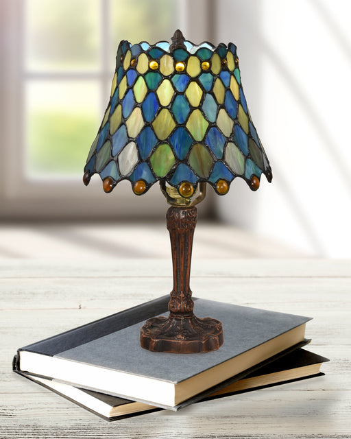 Maile Brass Tiffany Table Lamp