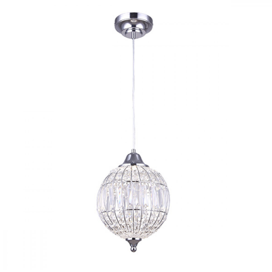 "Canarm Tilly 9"" Crystal LED Pendant Orb Chrome LPL145A09CH"