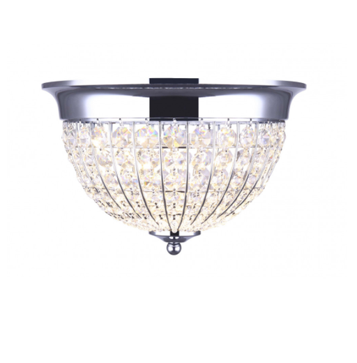 Canarm Tilly LFM145A12CH 12in LED Crystal Flush Mount