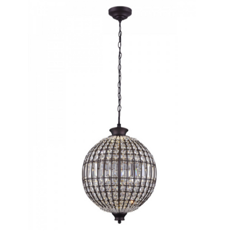 "Canarm Tilly 15"" Crystal LED Pendant Oil Rubbed Bronze LPL145A15ORB"