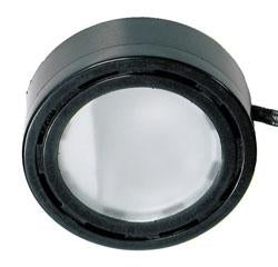 Xenon 12V Black Puck Light W/ Bulb