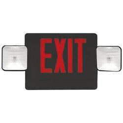 Exit Emergency Combo Sign Red/Black