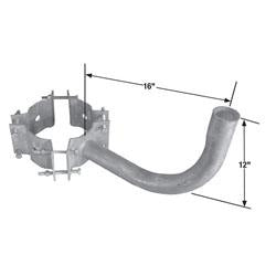 "W1-Y-7-10 One Arm Wrap Around Bracket for 7"" - 10"" For Round Pole"