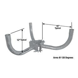 "W3-Y-7-10 Three Arm Wrap Around Bracket for 7"" - 10"" For Round Pole"