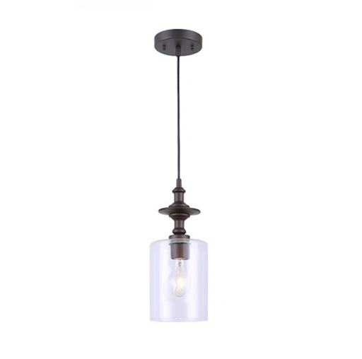 Canarm IPL276B01ORB York Oil Rubbed Glass Pendant Light