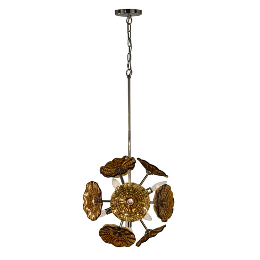 Burnt Sienna Hand Blown Art Glass Hanging Fixture