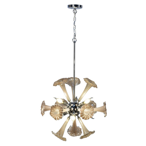Yuri 6-Light Hand Blown Art Glass Chandelier