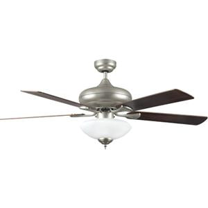 CF52880-53-L Qucik Connect Satin Nickel 52 Inch 5-Blade Ceiling Fan